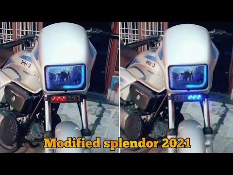 New hero splendor bike modified 2021 /full hd video /deep creation