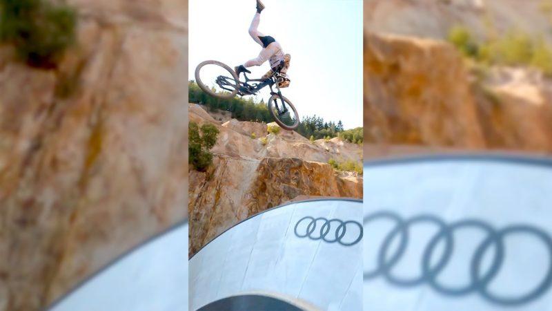 😍 World's CRAZIEST Mountain Bike JUMPS!! 😲 FPV Drone!