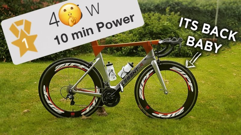 10 MINUTE POWER TEST! and new (old) bike!