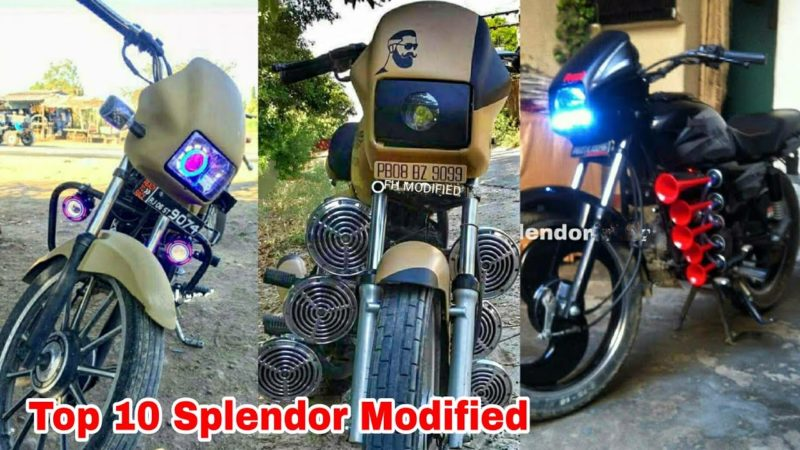 Top 10 Modified Hero Splendor plus Bs6 Bike New 2021 |Fh modified