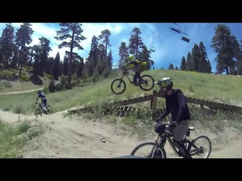 Downhill Mountain Biking At Snow Summit In Big Bear