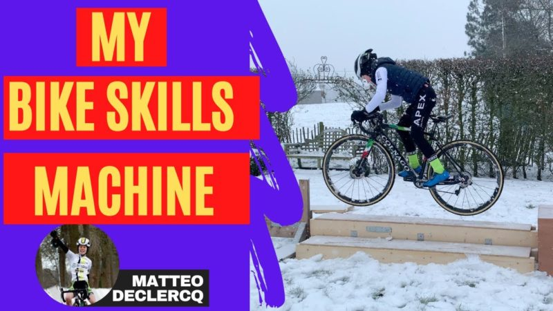 I'VE BUILD A BIKE SKILL MACHINE TO TRAIN IN THE SNOW !