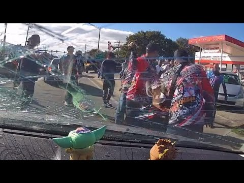 VIDEO: Group of bikers violently attack man in North Fort Myers road rage incident