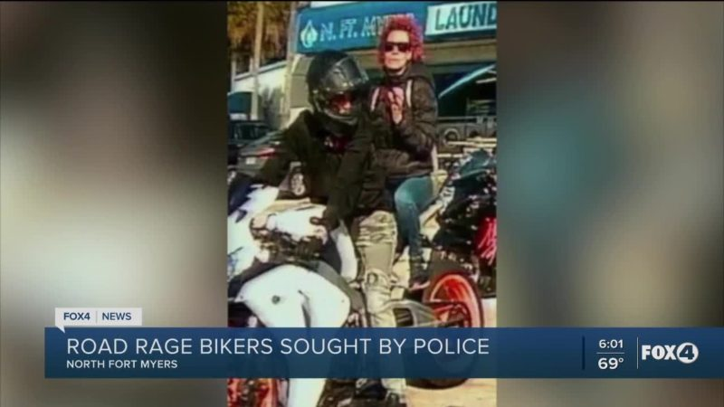 Road rage bikers sought by police