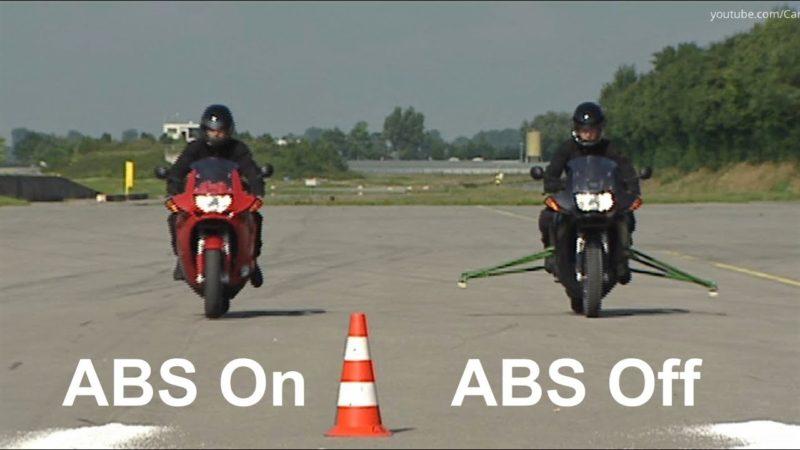 ABS On vs ABS Off on Bike – Brake Demonstration