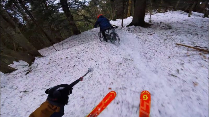 Ski & Bike down the same track