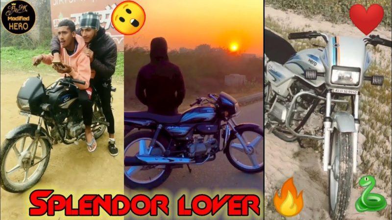 Splendor lover👌 dhamakedar video police stunt 🤭modified hero Honda bike Bs6🐍 Modified hero bike