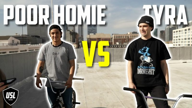 SKYSCRAPER GAME OF BIKE – POOR HOMIE VS MIKEY TYRA – BMX