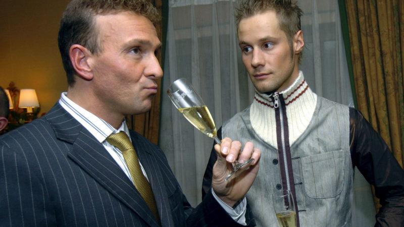 Voici cinq très bonnes photos de Tom Boonen et Johan Museeuw qui traînent