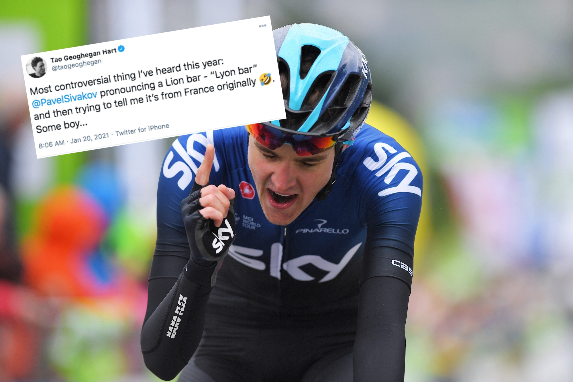 Tweets of the Week: Ineos prova il golf, Wout van Aert lavora duro e Pavel Sivakov su Lion bar