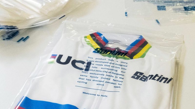 "Santini switches to compostable bags for all ""technical"" clothing"