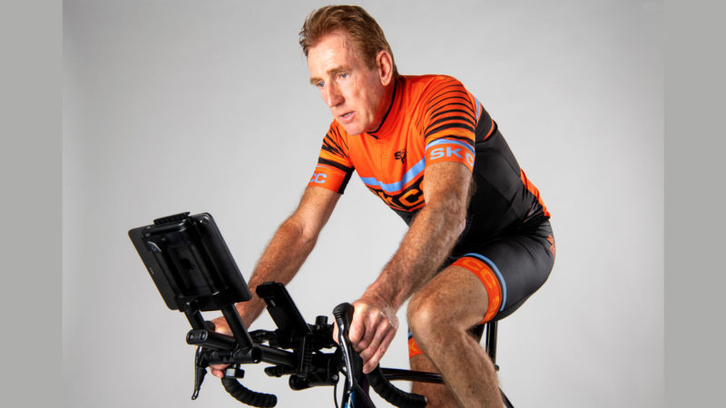 Outdoor cycling legend Sean Kelly launches indoor cycling screen mounts on Kickstarter