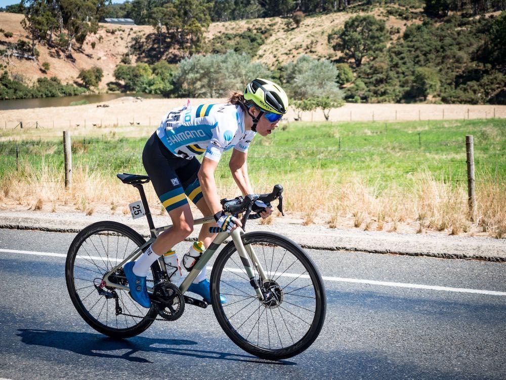 Santos Festival of Cycling: Sarah Gigante in powerful GC position ahead of Willunga climb