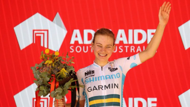 Sarah Gigante wins on Willunga to take stage 3 of Santos Festival of Cycling