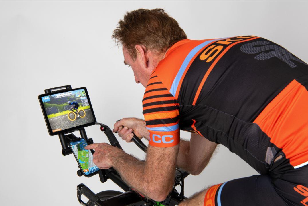 Sean Kelly and Indoor Velo launch screen mount for indoor cycling via Kickstarter