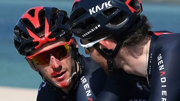 Adam Yates crashes heavily as Tadej Pogacar wins UAE Tour