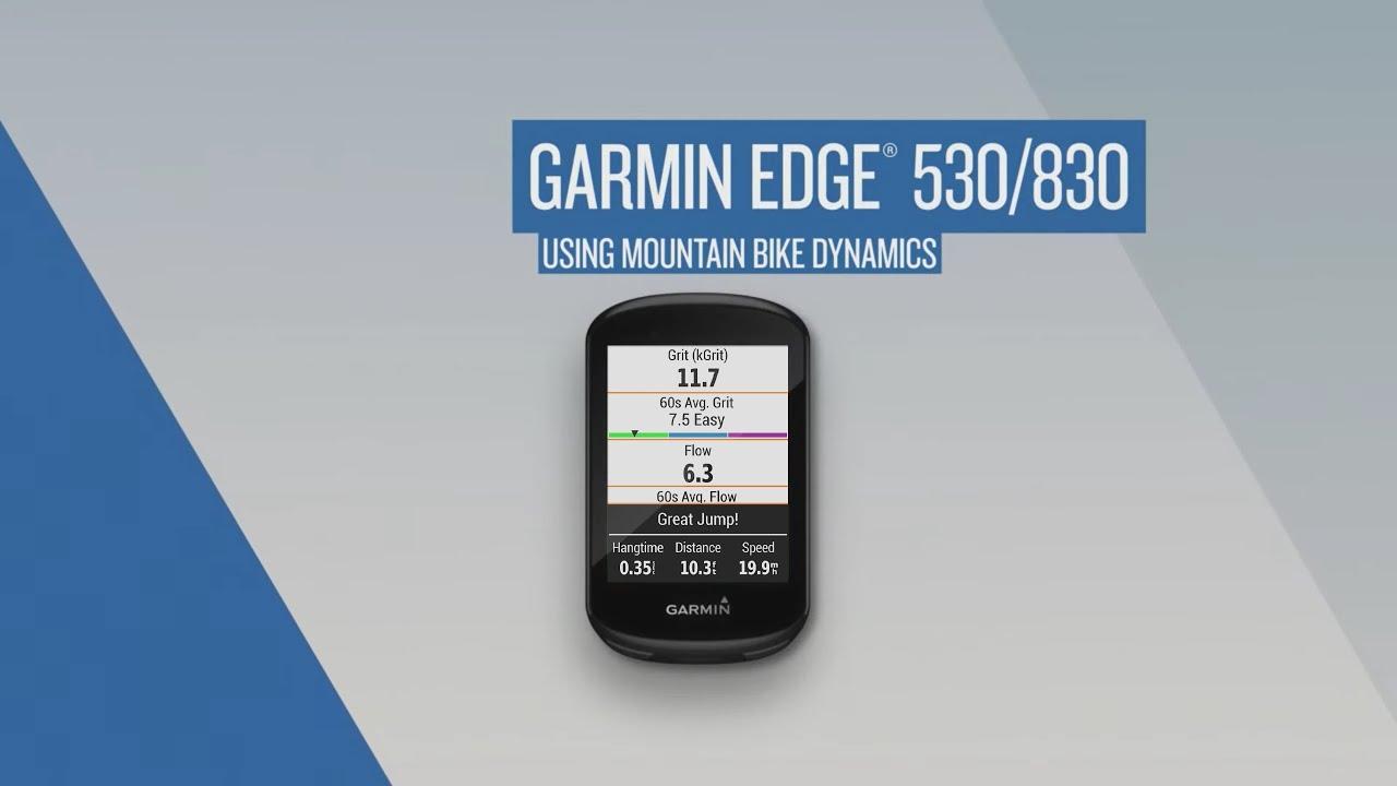 Garmin Edge Device: Using Mountain Bike Dynamics