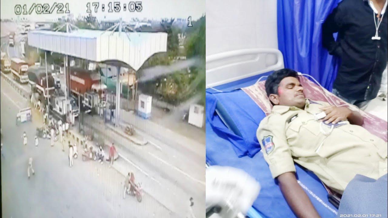 #SHAMSHABAD, HELMET CHECKING KE WAQT BIKE KI TAKAR SE POLICE CONSTABLE VENKATRAMANA ZAKHMI