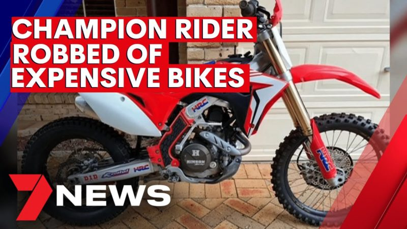 Young NSW dirt bike champion robbed of five expensive bikes totaling $130,000 | 7NEWS
