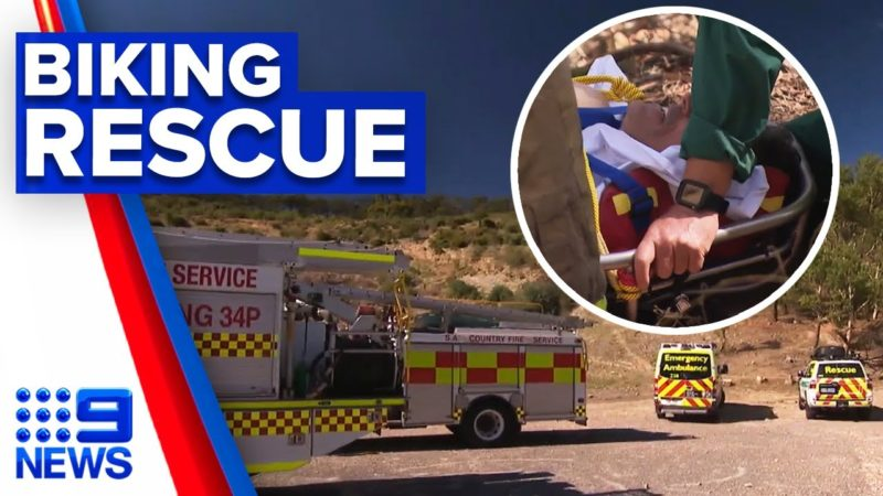 Man rescued after crashing bike in bushland | 9 News Australia
