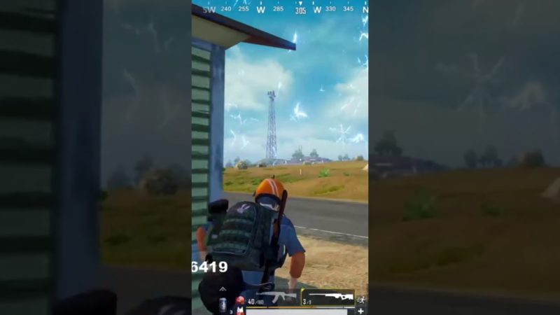 Akm with 6x spray with Running bike #shorts #short #pubgmshorts