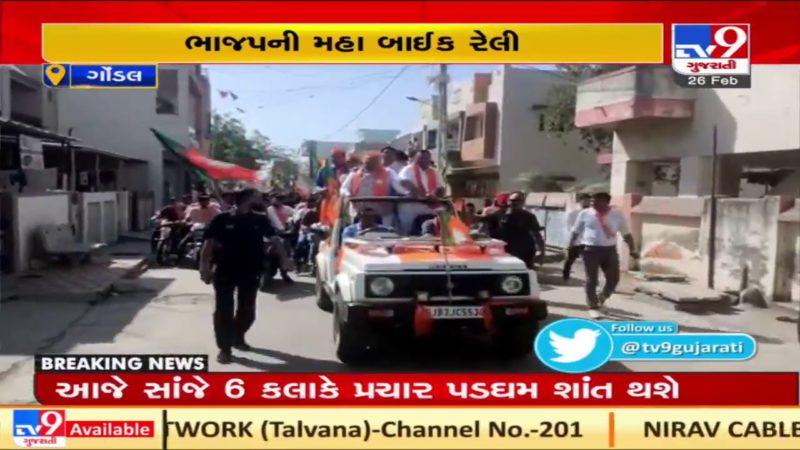 BJP organizes bike rally ahead of Gondal Nagarpalika polls | TV9News