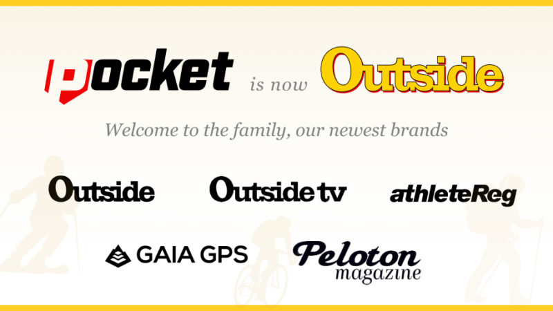 Pocket Outdoor Media acquiert le magazine Outside, Outside TV, le magazine Peloton, Gaia GPS;  rebaptisé Outside – VeloNews.com