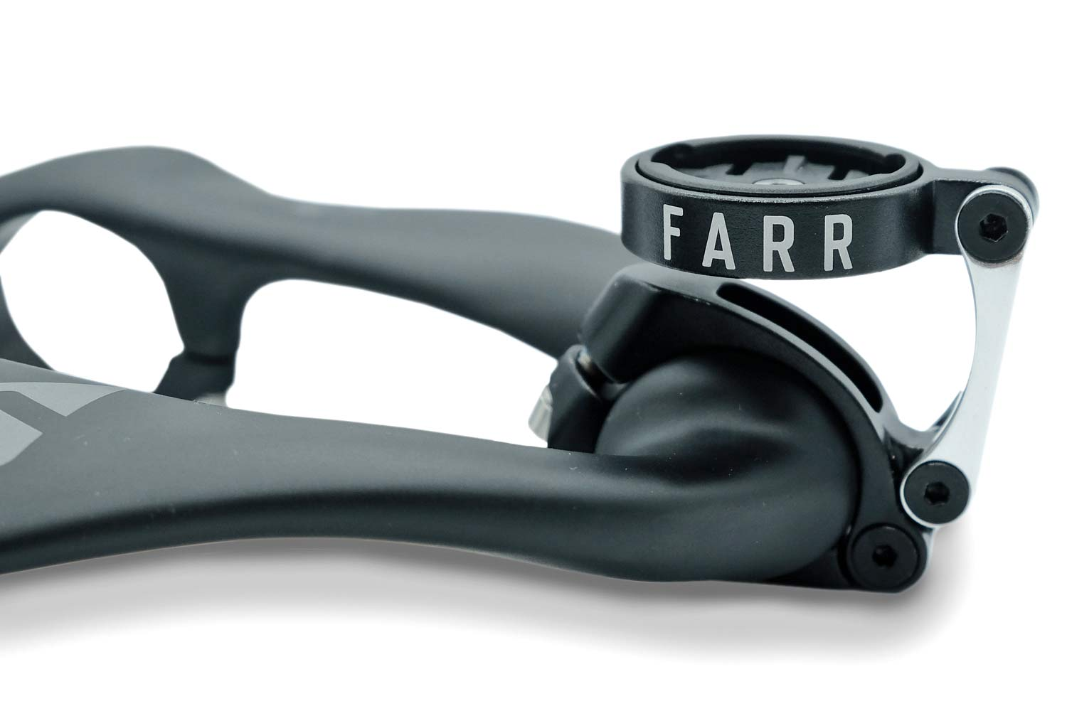 Farr's custom GPS Mount gets your computer out-front of their Carbon Aero Bolt-On aero bar