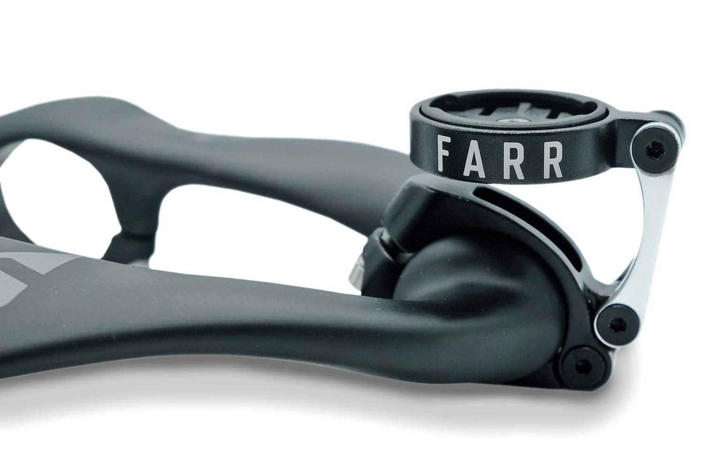 Farrs brugerdefinerede GPS-holder får din computer ud foran deres Carbon Aero Bolt-On aero-bar