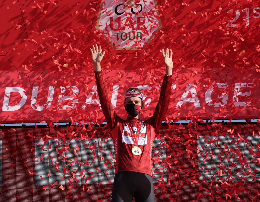 UAE Tour: Pogacar docked 10 seconds for Polanc push