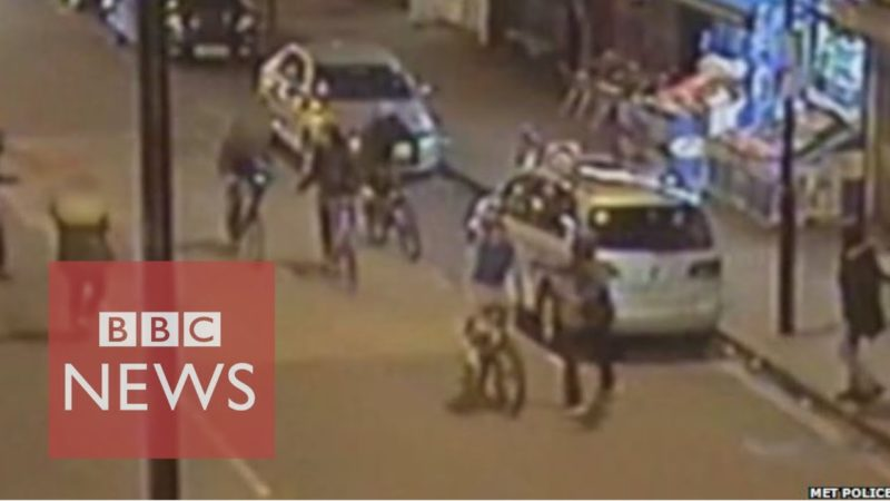 'Shocking' CCTV of teen bike murder – BBC News