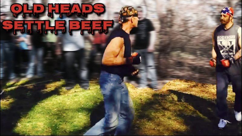 OLD HEAD BIKERS SETTLE BEEF 🥊