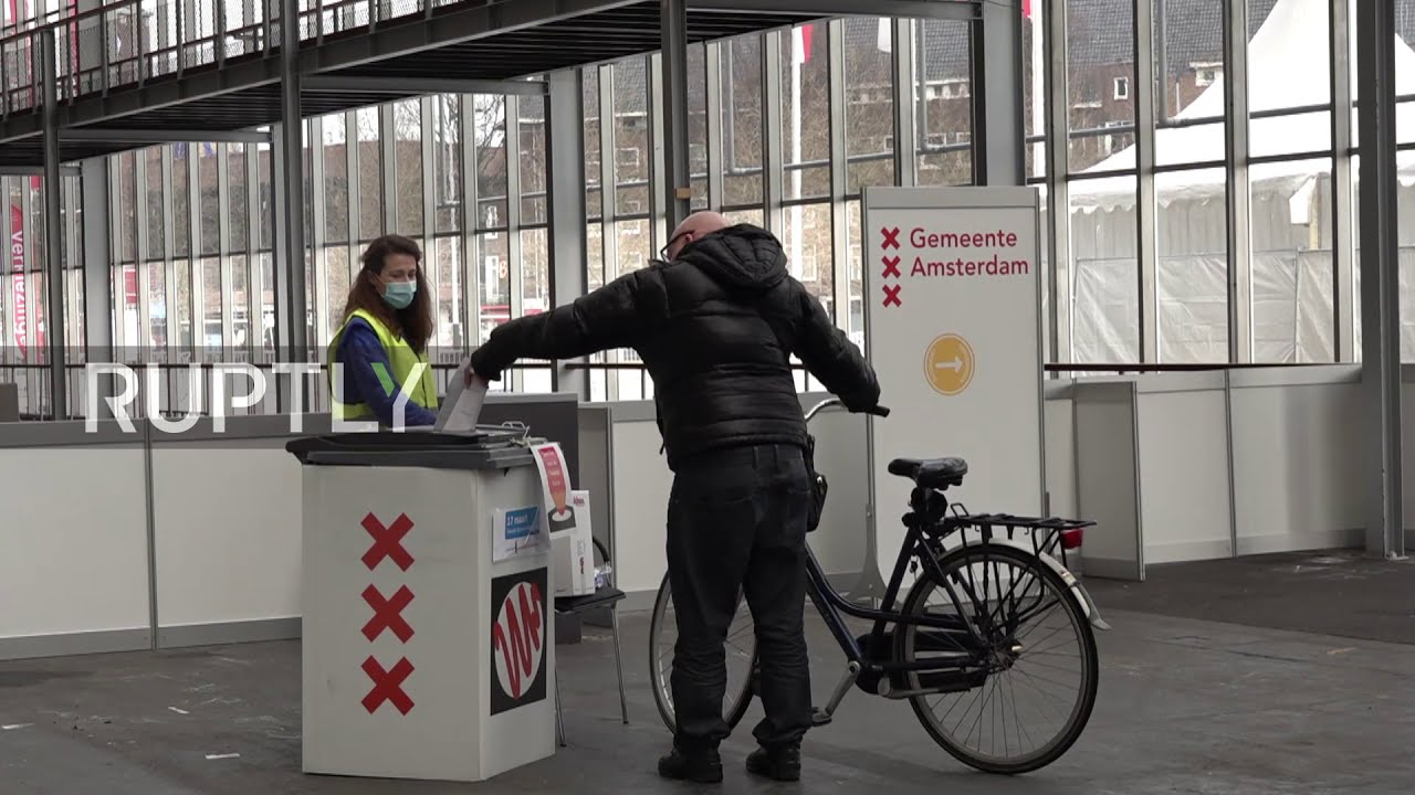 Netherlands: Drive-through and bike-through polling station opened in Amsterdam