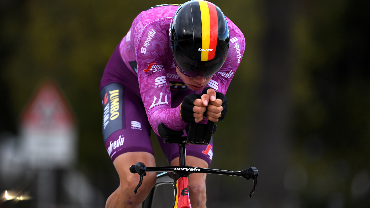 Wout van Aert upsets European and world time trial champions for win – VeloNews.com