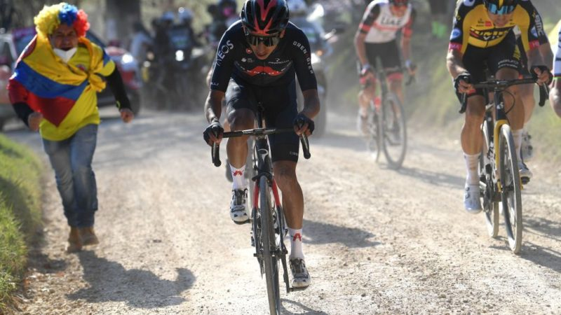 Egan Bernal fights for third in Strade Bianche as Tom Pidcock impresses with fifth