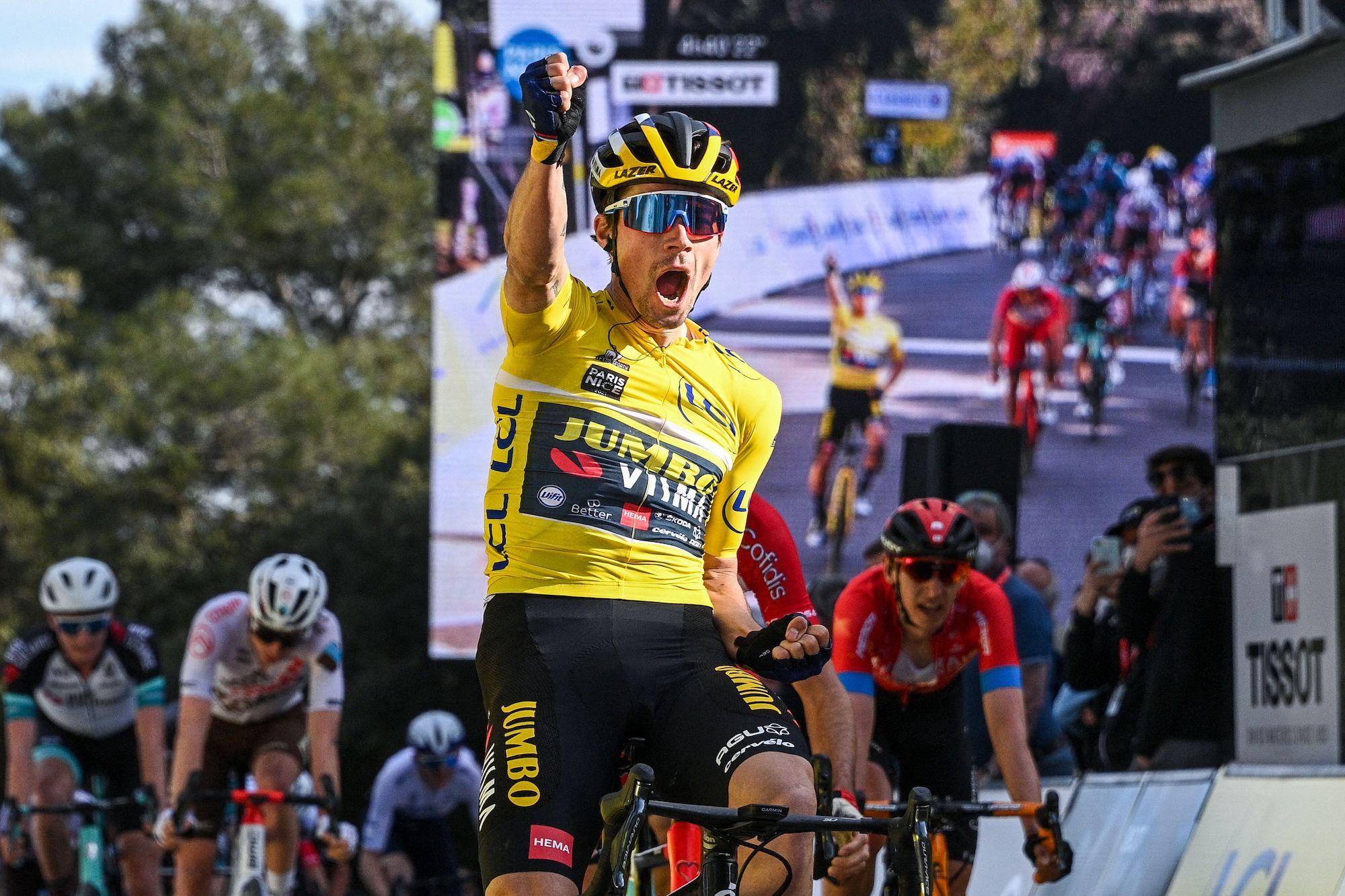 Primož Roglič ustoppelig, da han tager etape seks af Paris-Nice, en soliderende GC-føring