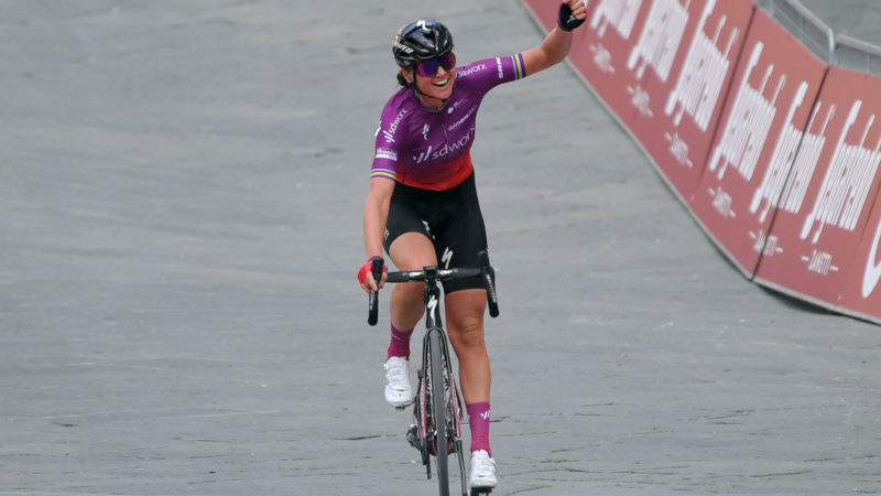 SDWorx continue to rule, with Chantal van den Broek-Blaak winning Strade Bianche