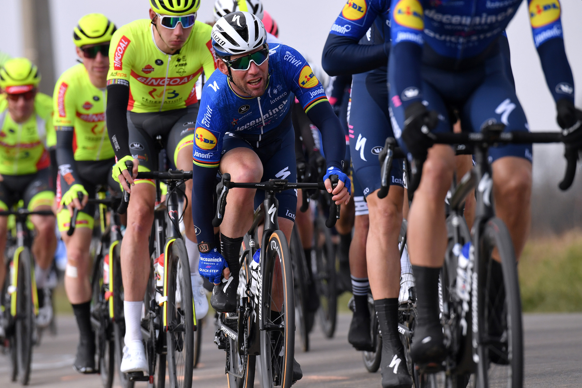 Mark Cavendish is back in action in Belgium after solid second place in last race