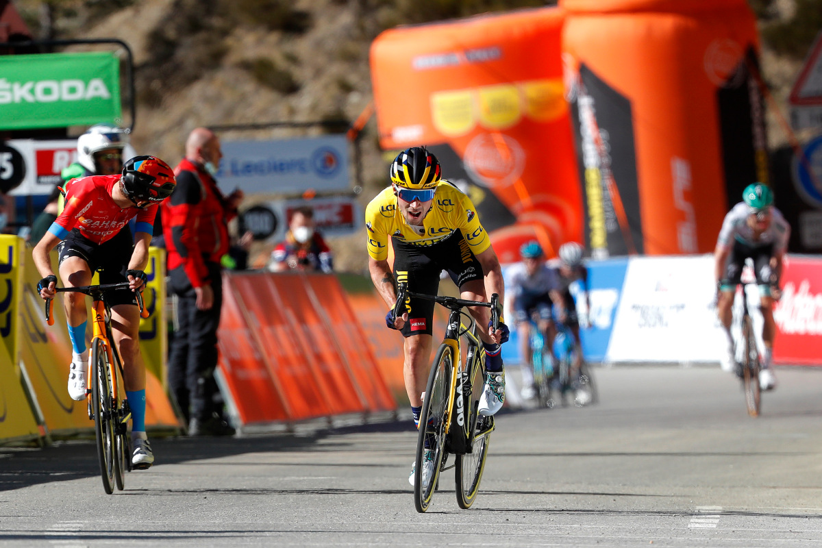 Primož Roglič pips the final breakaway rider to secure hat-trick – VeloNews.com