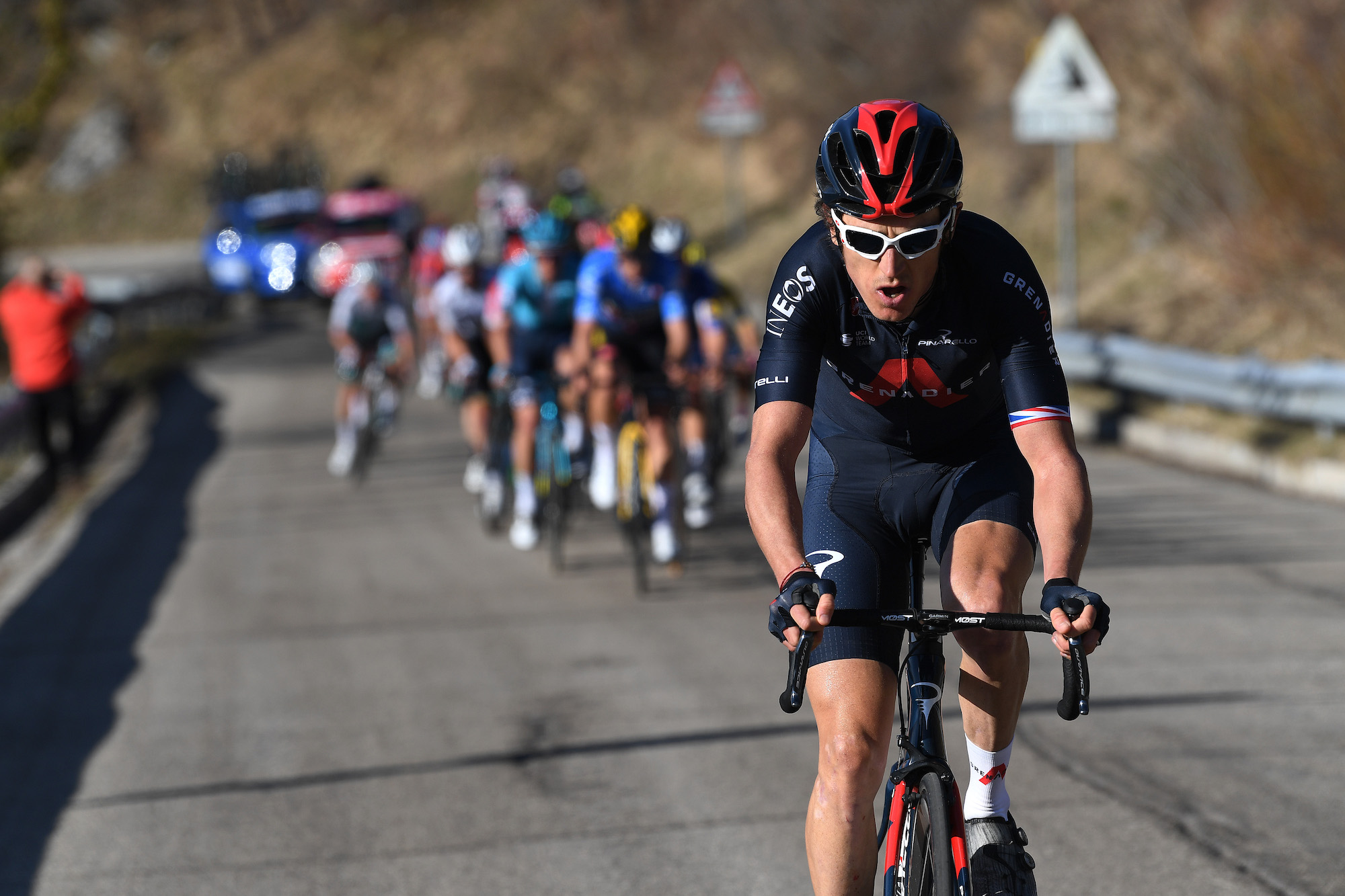 Geraint Thomas doing 'better than expected' as he hangs on to GC top 10 at Tirreno-Adriatico