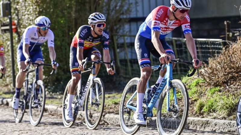 Van der Poel surrounded by 'cross talent in Strade Bianche team