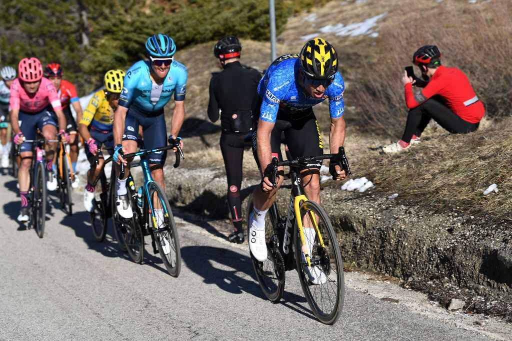 Wout van Aert loses Tirreno-Adriatico lead but still in GC contention