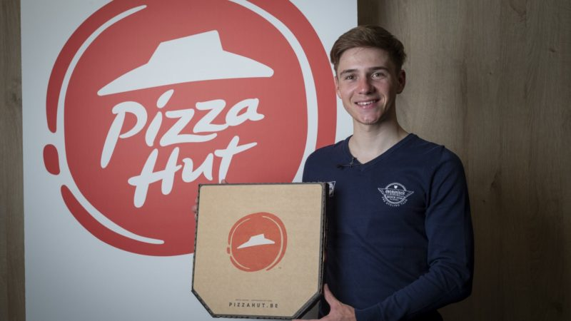 Remco Evenepoel is the face of Pizza Hut