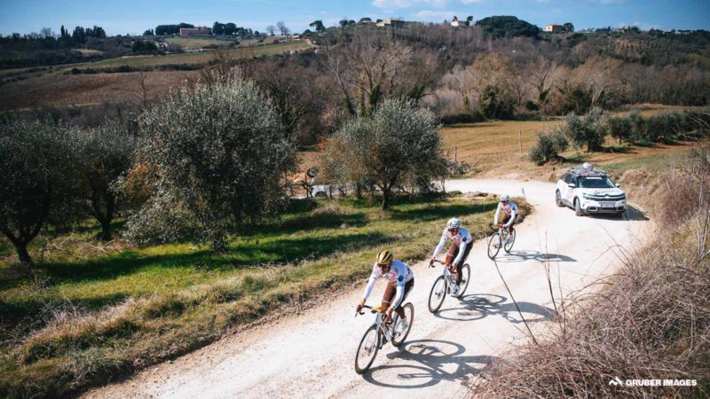 Gallery: The pros recon the Strade Bianche route