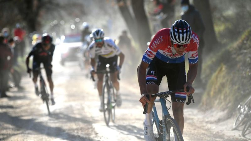 Nibali, Boonen and father Adrie left stunned by Mathieu van der Poel's Strade Bianche performance