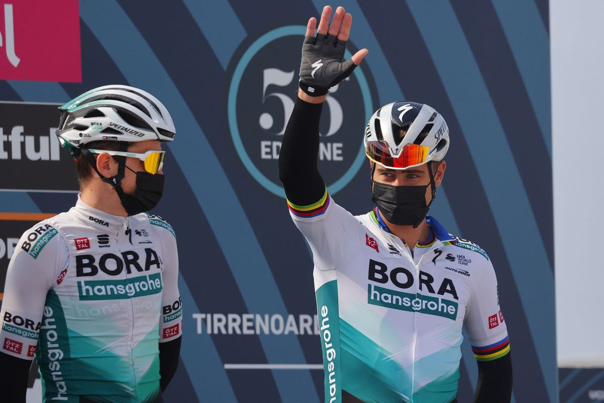 Peter Sagan trying to get back up to speed at Tirreno-Adriatico