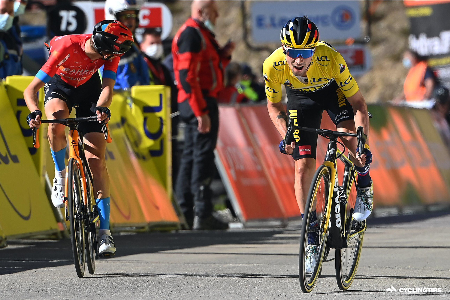 No gifts: Roglic defends his stage win over Gino Mäder