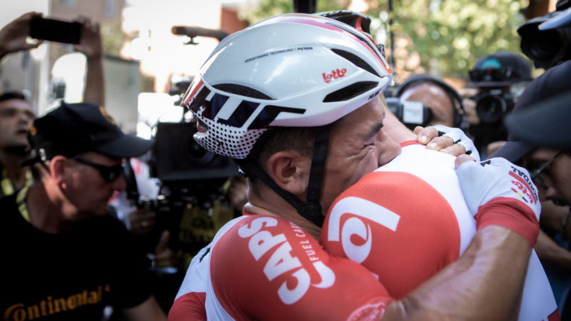 Hugs banned: UCI asks riders to keep their joy to themselves