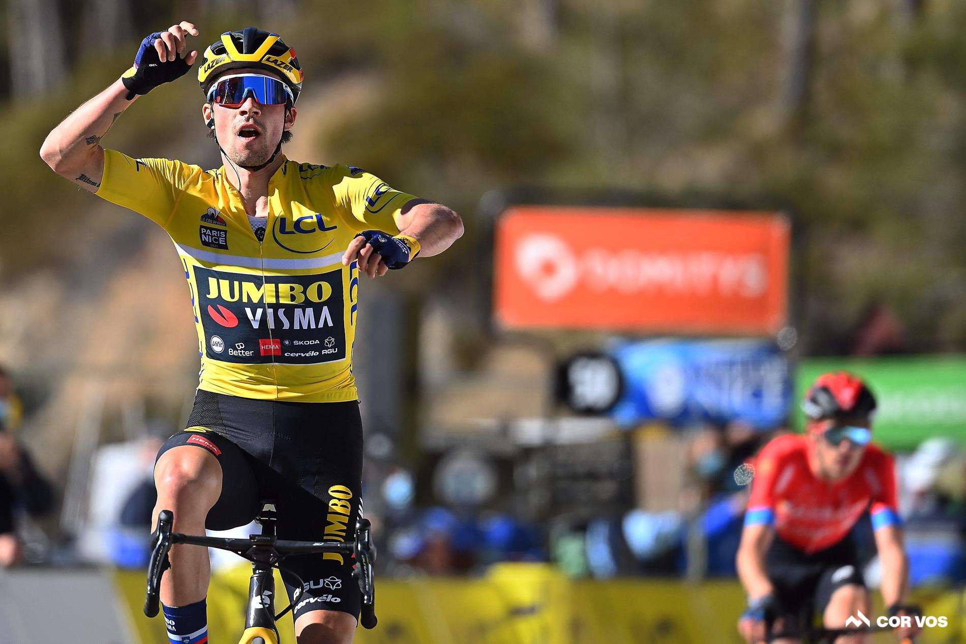 Roglic vince la tappa 7 Parigi-Nizza, crepacuore per Mäder
