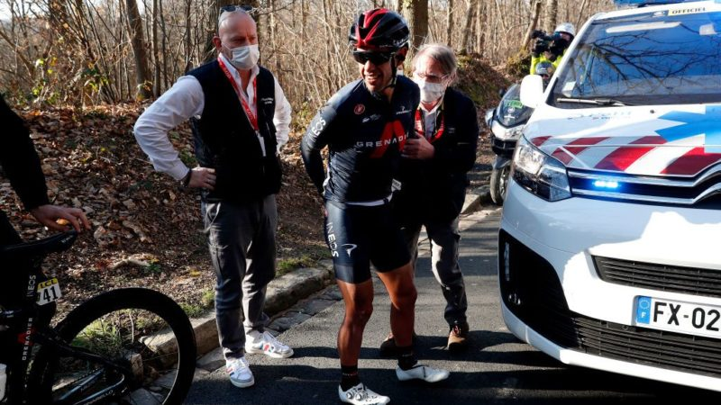 Richie Porte crashes out on opening day of Paris-Nice